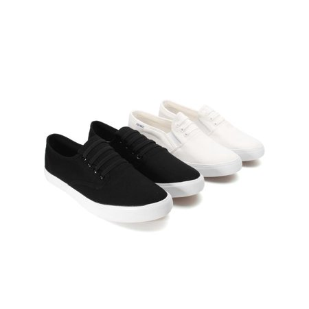 Meigar Men Casual Shoes Loafers White Black Shoes ()