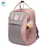 """Deago Waterproof Mommy Maternity Nappy Bag Multifunctional Diaper Backpack Travel Backpack for Baby Care, Pink (10.23""""x15""""x5.9"""")"""