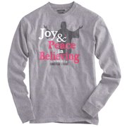 Joy Christian Shirt | Peace Sign Jesus Christ God Savior Hope Long Sleeve Tee