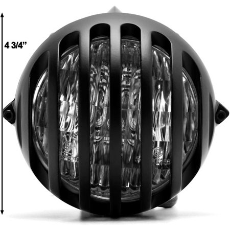 "Kapsco Moto 4 3/4"" Black Round Motorcycle Classic Headlight For Harley Davidson Ultra Tour Glide Classic - image 2 of 6"