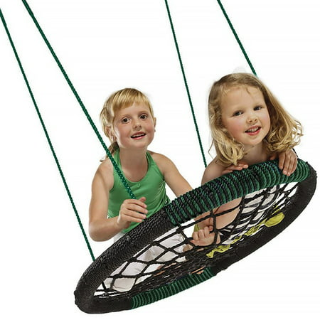 Swing-N-Slide Monster Web Swing with Green and Black Nylon Ropes