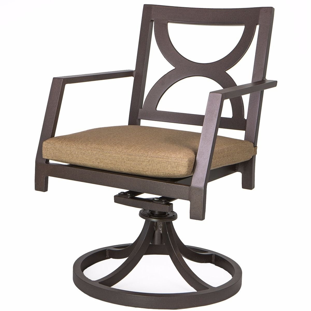 New MTN-G Bronze Outdoor Patio Dining Swivel Chair Swivel...