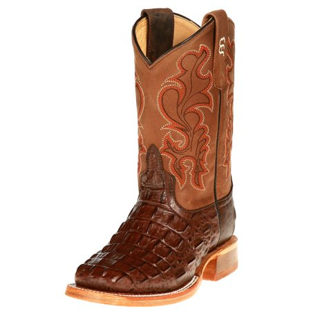 (Anderson Bean Boys Kid s Chocolate Nile Print Cowboy Boots)