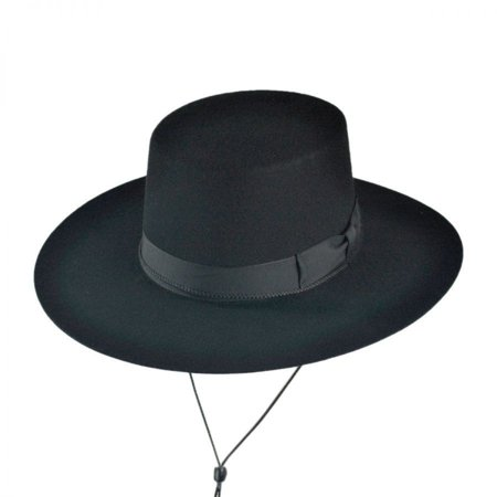 a1e4e782 Made in the USA - Classics Wool Felt Bolero Hat - XL - Black