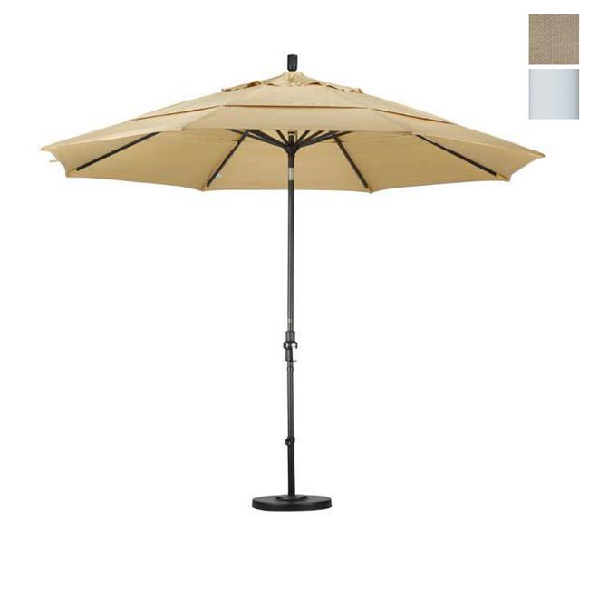 California Umbrella GSCU118170-F22-DWV 11 ft.  Aluminum Market Umbrella Collar Tilt Matted White-Olefin-Antique Beige-DWV