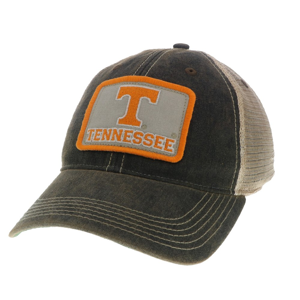 Tennessee Volunteers Black OFA Mesh Back Trucker - T/TN Patch