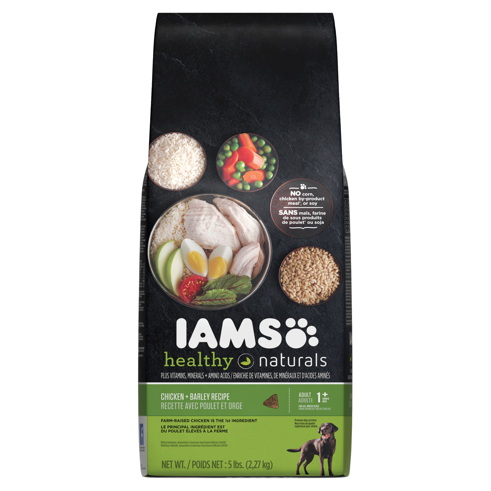 IAMS HEALTHY NATURALS Adult Dog Chicken and Barley Recipe Dry Dog Food 5 Pounds