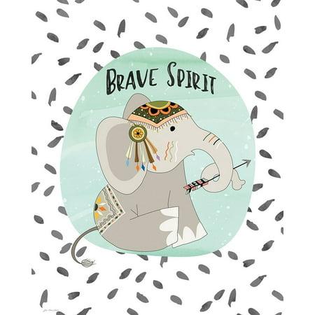 Brave Elephant Poster Print by Jo Moulton (24 x - Brave Elephants
