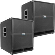 """Seismic Audio Pair of  18"""" PA POWERED SUBWOOFER Active Speakers 500 Watts Each - Tremor-18Pair"""