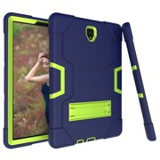 Allytech Samsung Galaxy Tab S4 10.5 2018 Case, [Heavy Duty] Rugged Hybrid Protective Kids Proof Case Cover Build in Kickstand for Samsung Galaxy Tab S4 10.5 inch SM-T830/T835/T837 (NavyBlue/Olivine)