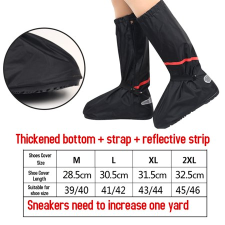 Waterproof Rain Shoes Cover Reusable Snow Boots Cover with Reflector Anti-slip Boots Gear Shoes Cover Women Men - image 2 de 7