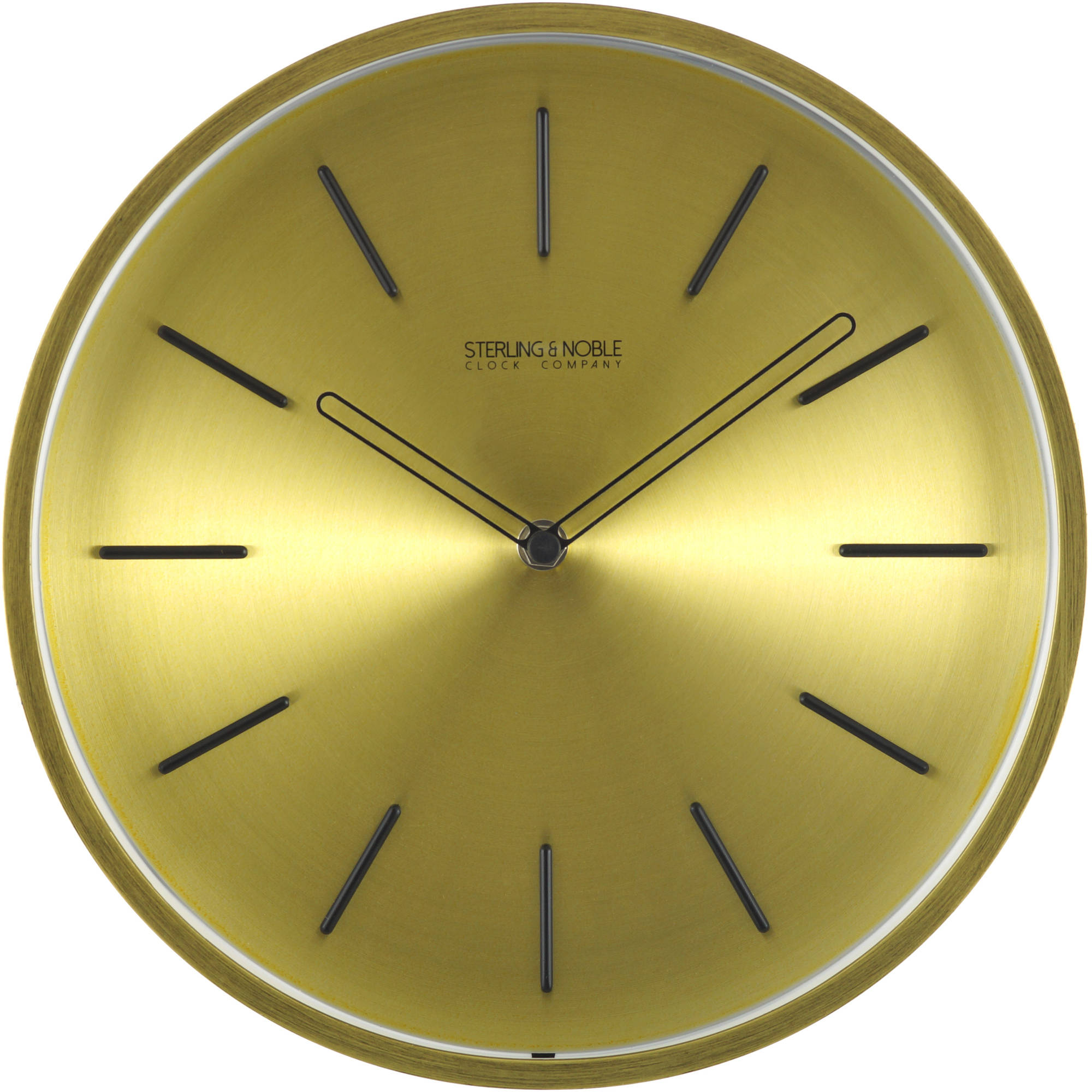 "Mainstays 11.5"" Spun Brass Wall Clock"