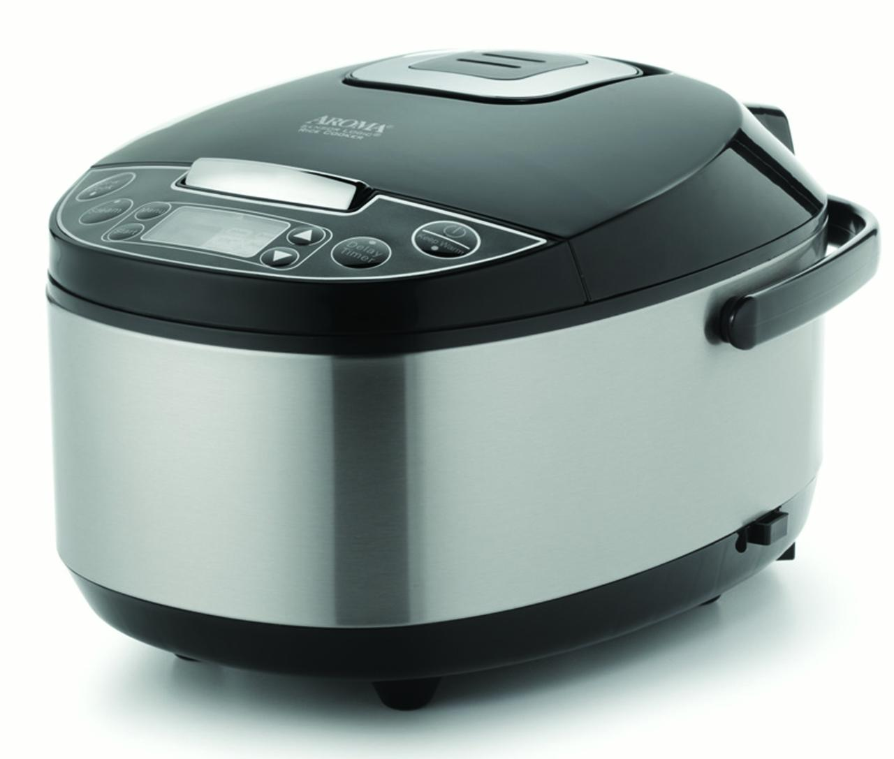 AROMA Professional 12-cup (Cooked) Digital Rice Cooker, Food Steamer and Slow Cooker (ARC-616SB) by Aroma