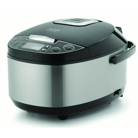 AROMA Professional 12-cup (Cooked) Digital Rice Cooker, Food Steamer and Slow Cooker (ARC-616SB)