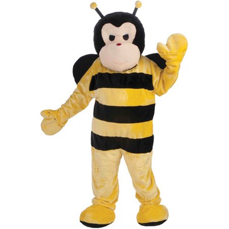 Bee Mascot Adult Halloween Costume, Size: Men's - One Size