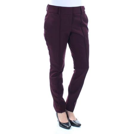 - BAR III Womens Burgundy Pocketed Pants  Size: 6