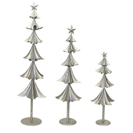 Silver Metal Christmas Tree