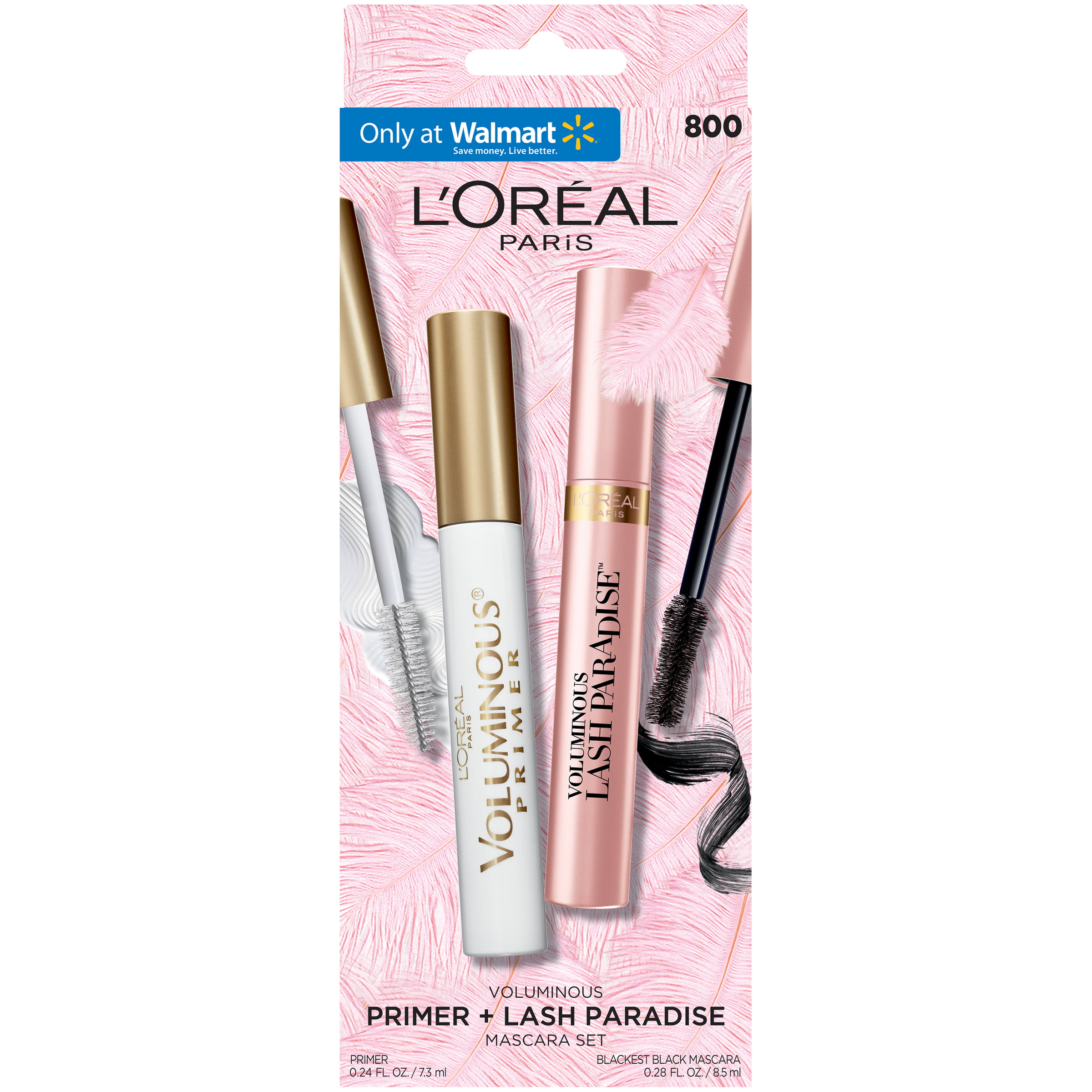 L Oreal Paris Voluminous Primer And Lash Paradise Mascara Blackest Black And White 2 Count Only At Walmart Walmart Com Walmart Com