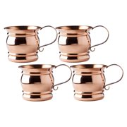 Old Dutch 16 oz. Moscow Mule Mugs with Flat Handle - Set of 4