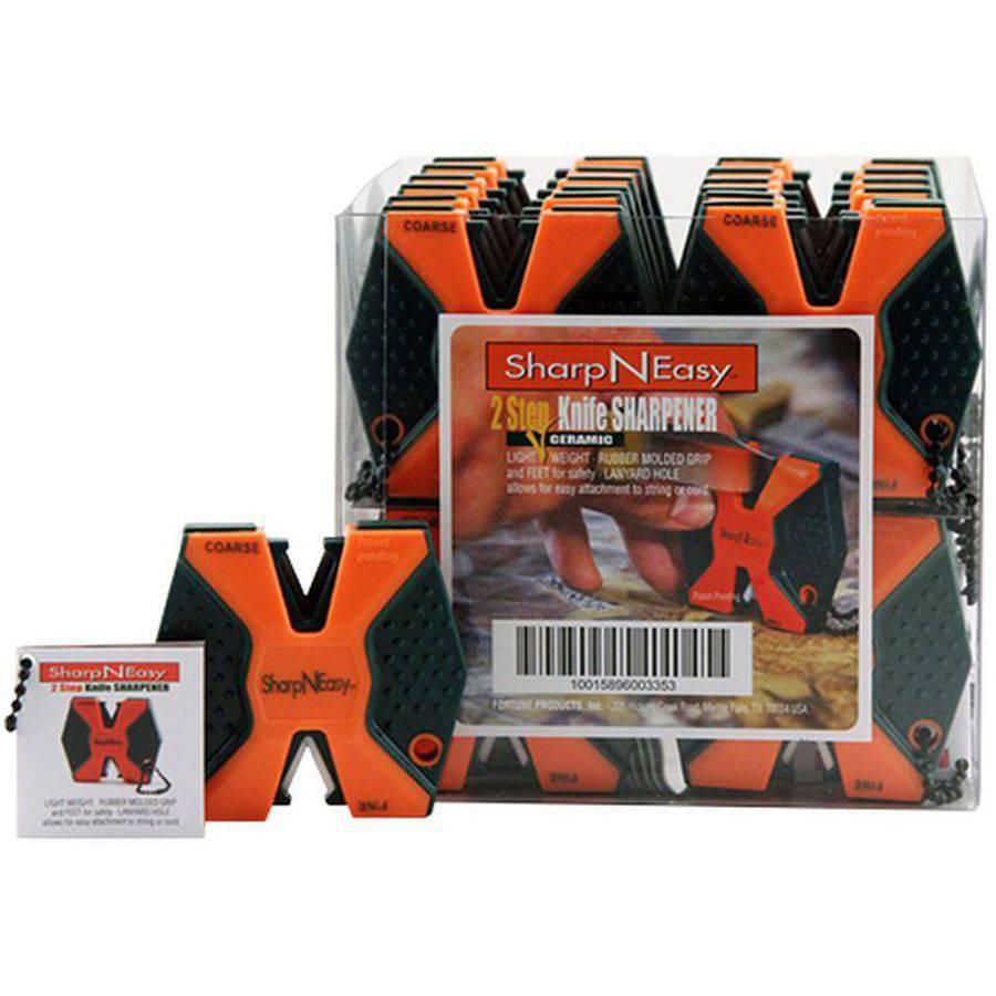 Accusharp 335CD SharpNEasy 2Step Sharpener Ceramic Stone, Fine/Coarse, 24pk, Orange