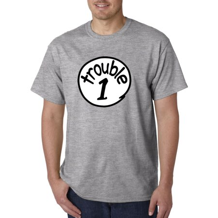 721 - Unisex T-Shirt Trouble 1 One Dr Seuss Thing Parody