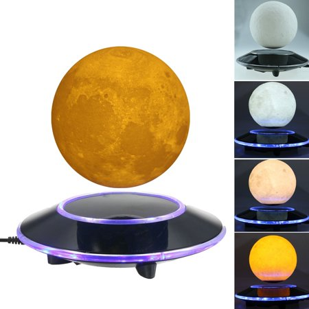 Magnetic Levitating 3D Moon Lamp Floating LED Night Light  with Gradually Changing LED Lights Between Yellow and White  for Home,Office Decor Christmas Gift