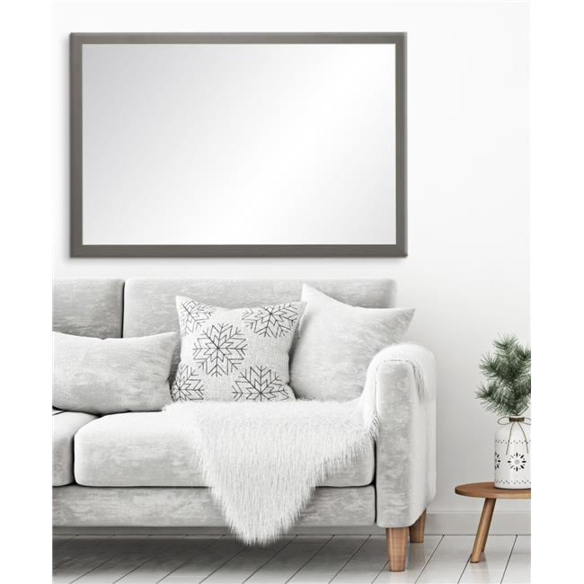 BrandtWorks Modern Matte Charcoal Wall Mirror 29.5 x 33.5 in.  BM071M2 - image 1 of 1