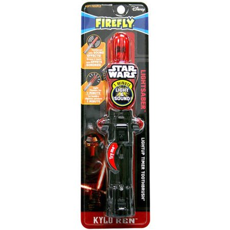 Firefly Disney Star Wars Lightsaber Lightup Timer Toothbrush Soft, 1.0 CT (Color may Vary) for $<!---->