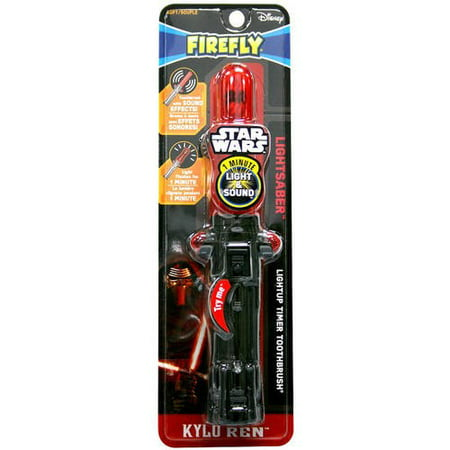 Disney Star Wars Lightsaber Lightup Timer Toothbrush Soft, 1.0 CT (Color may Vary)