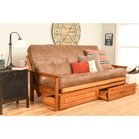 Image of Albany Futon with storage in Barbados Finish, Multiple Colors