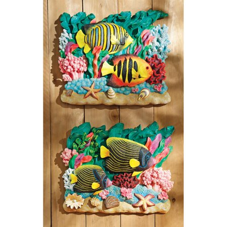 The Great Barrier Reef Fish Wall Sculptures: Set of Two