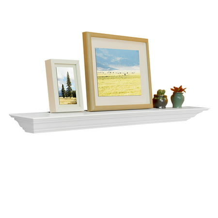 Welland 36 Corona Crown Molding Floating Wall Shelf White