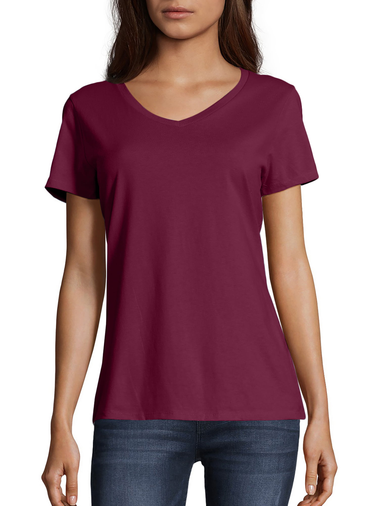 New Women/'s Juniors Sheer Graphic Light Weight Top Cap Sleeve V-Neck T-Shirt
