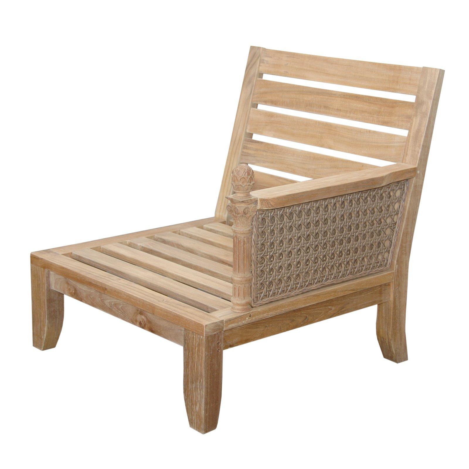 Anderson Teak Luxe Left Facing Outdoor Modular Chair