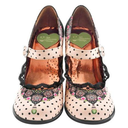 Hot Chocolate Design Women's Mary Jane Pump High Heels Chocolaticas Doris Size: 35 HCD/ 5 US/