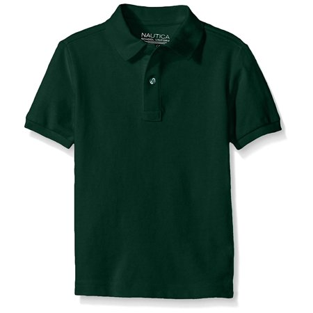 Nautica Boys' Little Boys' Uniform Short Sleeve Pique Polo, Hunter, Medium/5 - image 1 of 1
