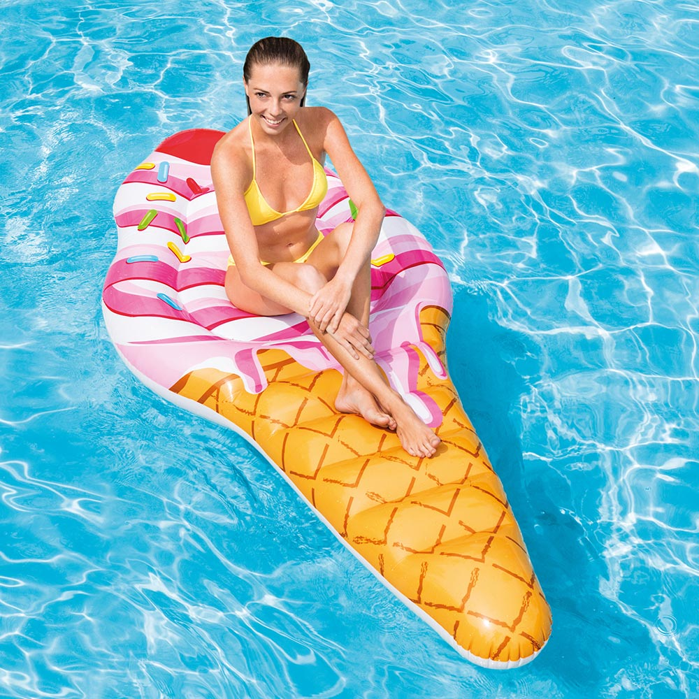 "Intex Inflatable Ice Cream Pool Mat, 88"" x 42"""