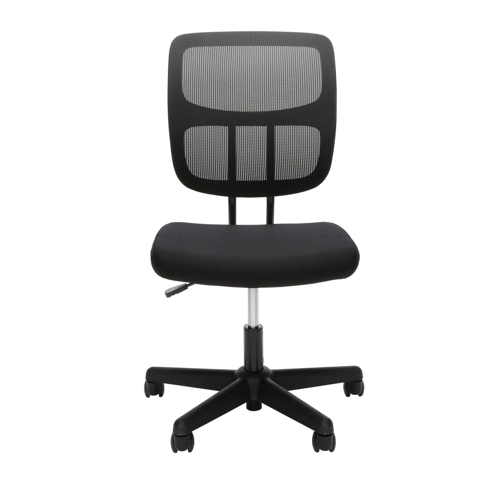 Ofm Essentials Series Armless Mesh Office Chair In Black Ess 3002 Walmart Com Walmart Com