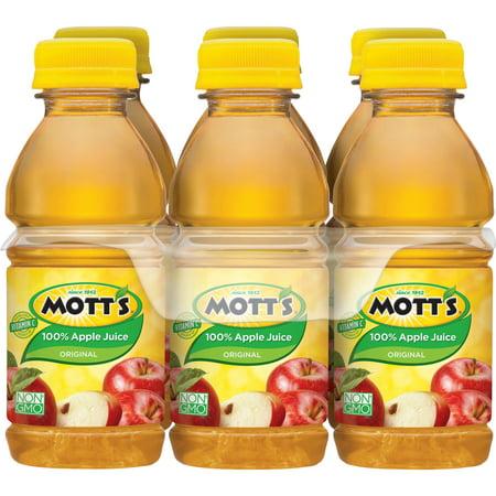 (4 Pack) Mott's 100% Original Apple Juice, 8 fl oz, 6 pack