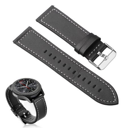 Rawhyde Frontier Leather - Wristband Leather Strap Band Magnetic for Samsung Gear S3 Classic S3 Frontier (Black)