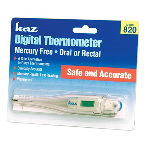 Kaz Digital Thermometer Mercury Free Model : 820 - 1 Ea