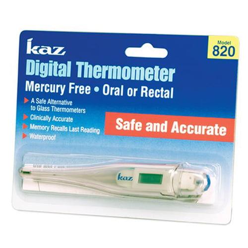 Kaz Digital Thermometer Mercury Free Model : 820 - 1 Ea