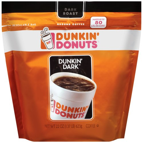 Dunkin' Donuts Dunkin' Dark Ground Coffee, 22 oz