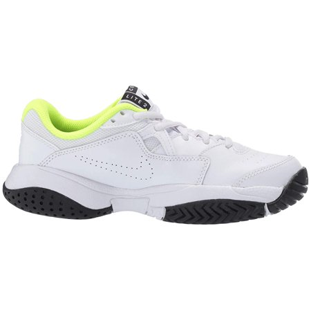 Nike Kids NikeCourt Jr. Lite 2 Tennis (Little Kid/Big Kid) White/Black/Volt