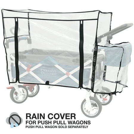 - Creative Outdoor Clear Rain Water Cover For Push Pull Wagons | Accessory