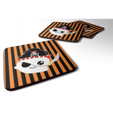 Set of 4 Halloween Ghost Pirate Foam Coasters Set of 4 BB6957FC - Halloween Serveware Sale
