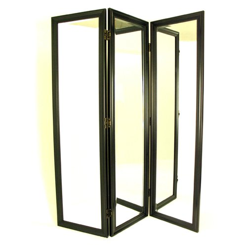 Wayborn 72'' H x 60'' W Mirror 3 Panel Room Divider