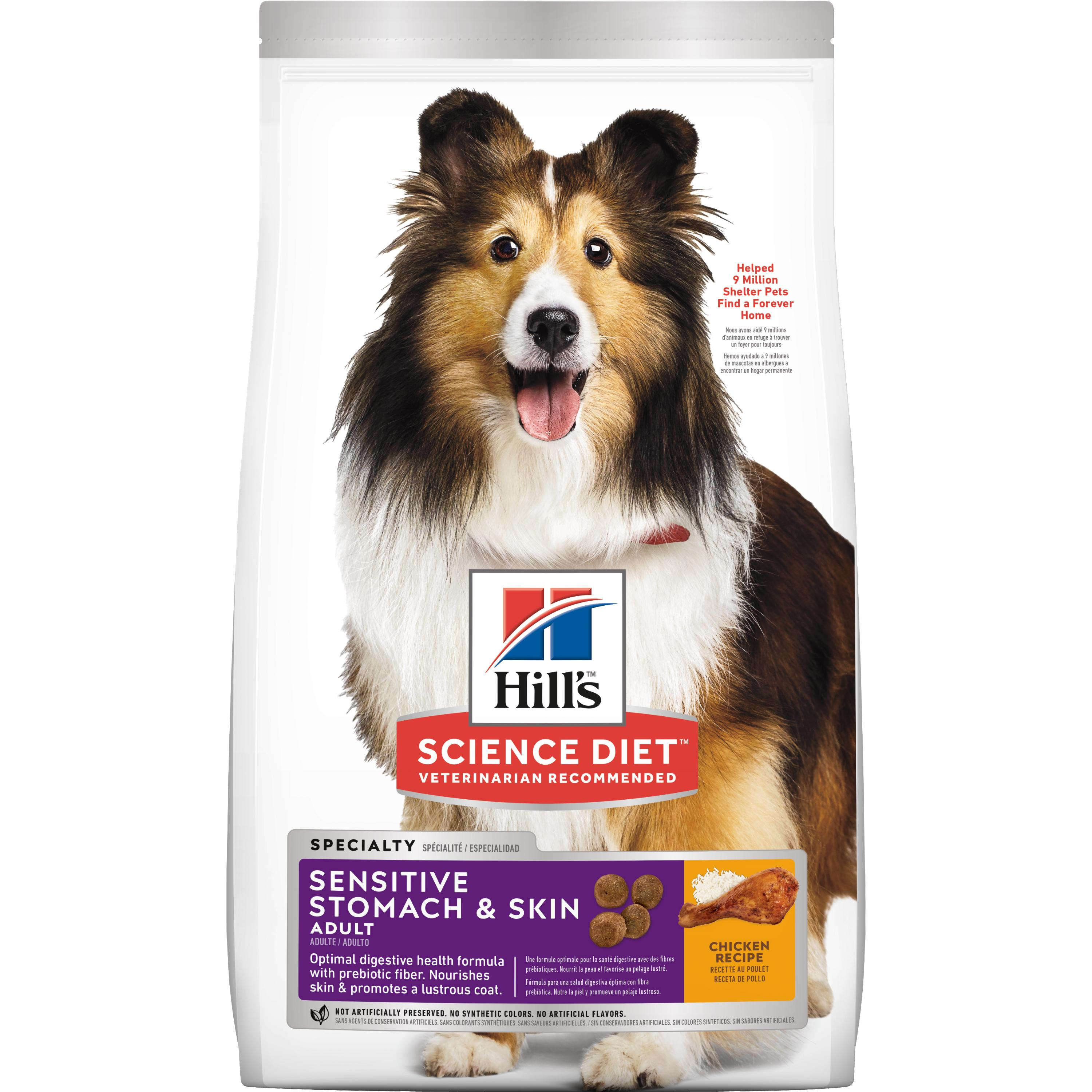 Hill's Science Diet Adult Sensitive Stomach & Skin Chicken Recipe Dry Dog Food, 30 lb bag by Hill's Pet Nutrition