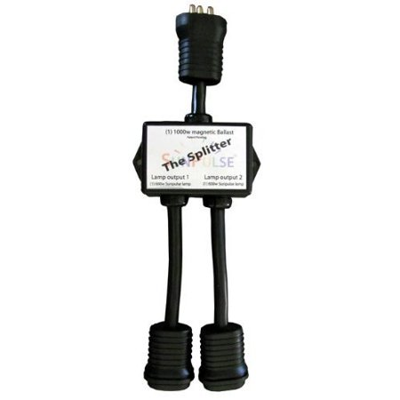 14 in. - Splitter Power Connector Cord - For Grow Light Magnetic Ballasts - Splits 1 1000 Watt Lighting System into 2 600 Watt Lighting Systems - SunPulse
