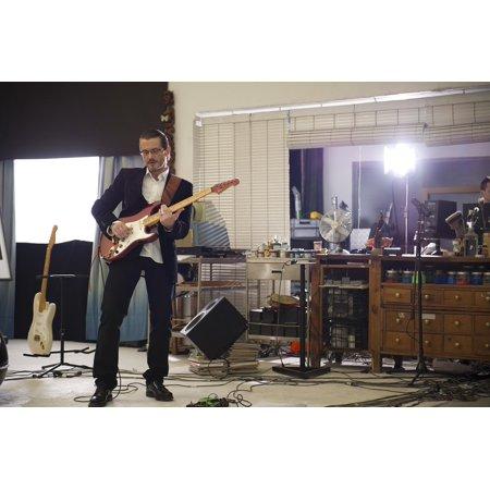 Blues Guitar Arrangements - LAMINATED POSTER Blues Guitar Player Studio Mika Selander Guitar Poster Print 11 x 17